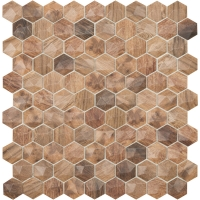 Мозаика VIDREPUR Hexagon Woods № 4700D (на сетке), м2